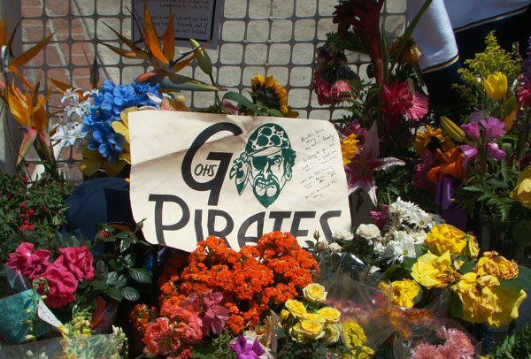 Oceanside high school comes out to show respect and love for their fellow Pirate.