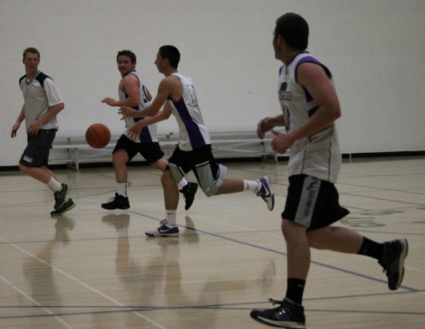 CHS seniors break the age barrier in adult basketball league