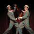 Juniors Josh Collins and Evan Ridpath perform in Singin&#039; in the Rain as Cosmo and Don Lockwood.